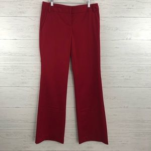 Express Editor Red Wide Leg Professional Pants